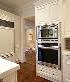 white refaced cabinets