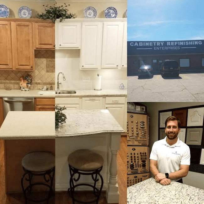 before and after collage kitchen remodel